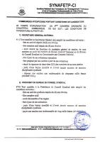 communiqué portant dossier de candidature